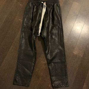 Pants - Faux leather joggers
